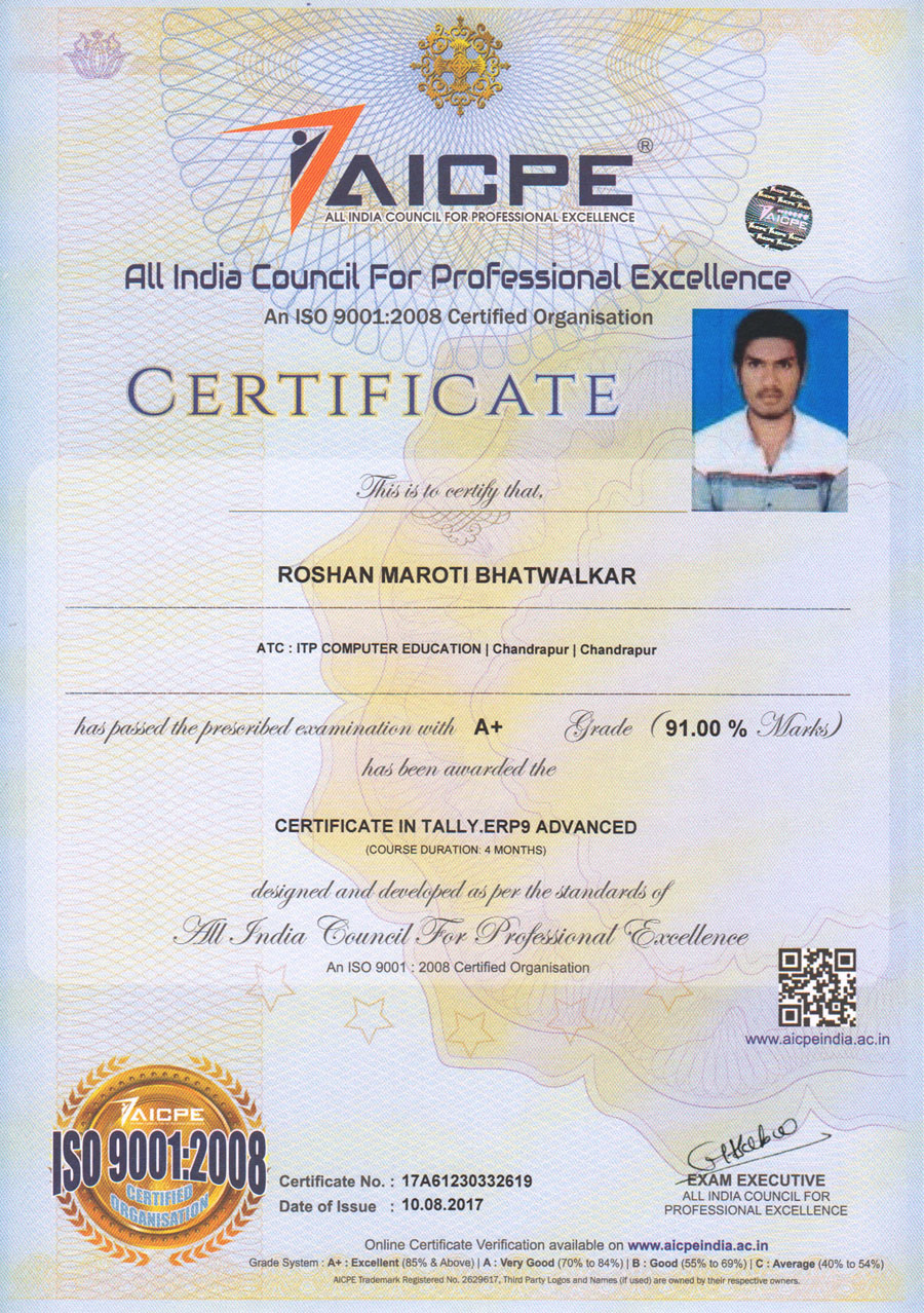 Student sample certificate aicpe home student sample certificate aicpe professional certificate yadclub Gallery