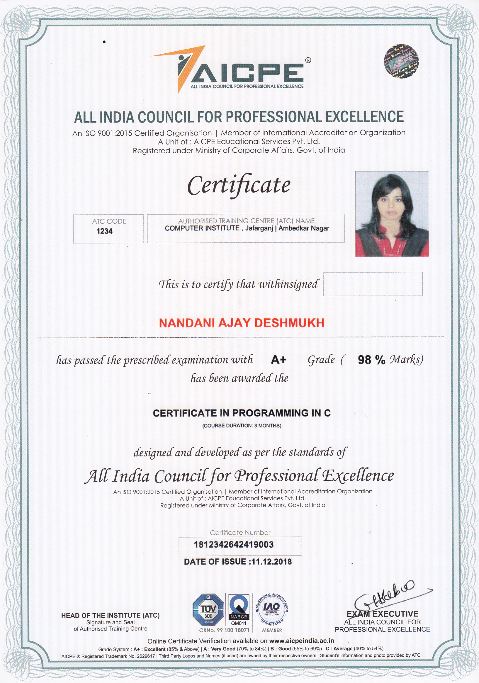 AICPE-PROFESSIONAL-CERTIFICATE_NEW Sample Application Letter For Finance Person on summer job, for graduation, for training,
