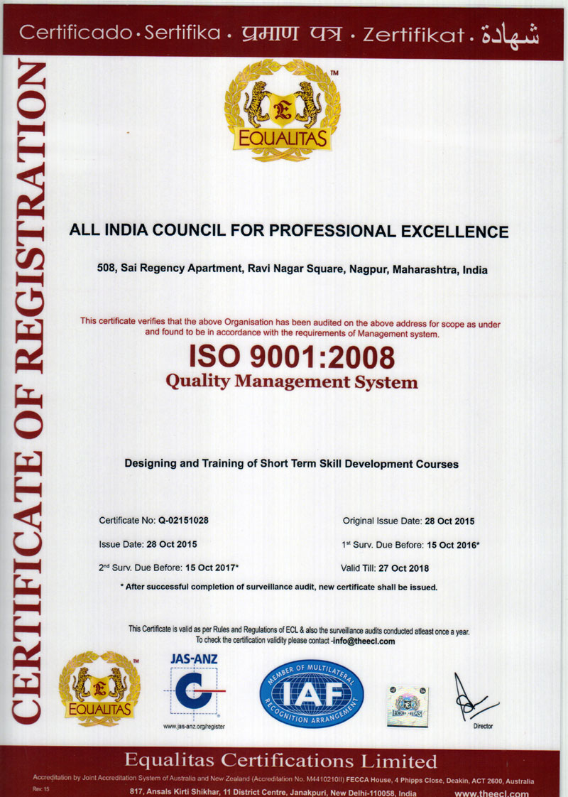 ISO-9001-JAS-ANZ Certificate