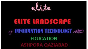 ELITE EDUCATIONAL TRUST